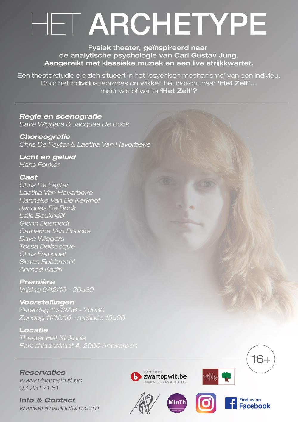 theaterproducties anima vinctum het archetype flyer back
