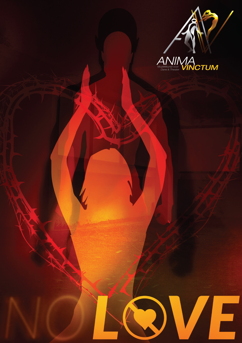 theaterproducties anima vinctum no love affiche