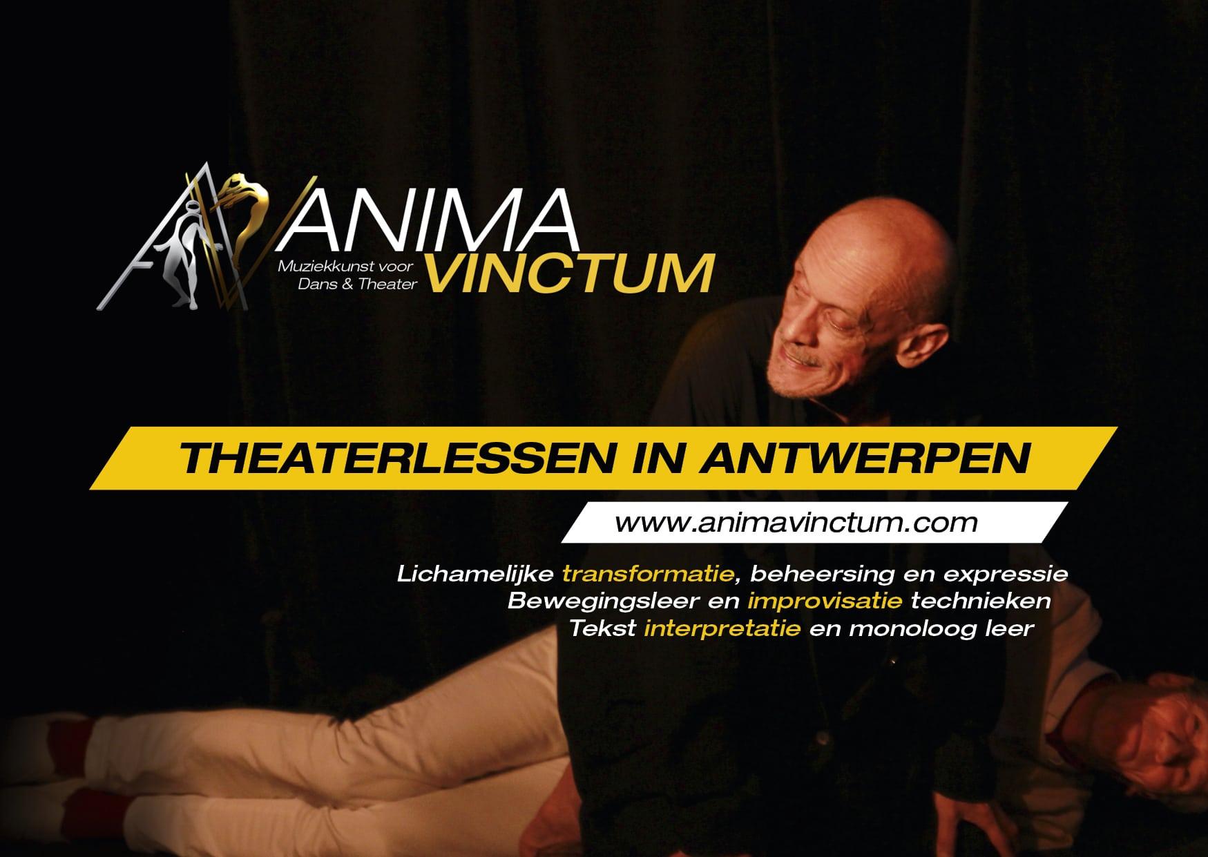 theatercursussen anima vinctum theaterlessen flyer voorkant