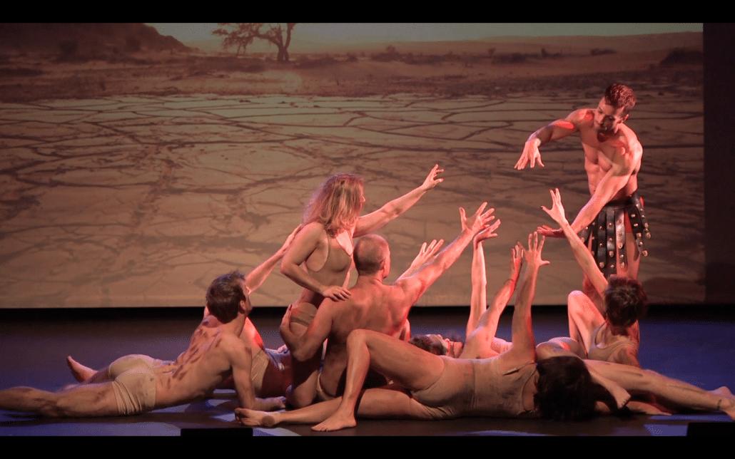 stage performance prometheus creation man anima vinctum